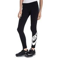 Nike Girls Leg A See Fitness Tights Junior - Black/White - Kids
