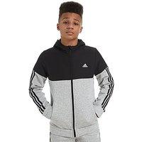 adidas Linear Full Zip Hoody - Grey/Black - Kids