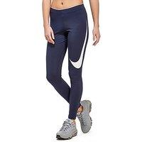 Nike Club Swoosh Leggings - Navy/White - Womens