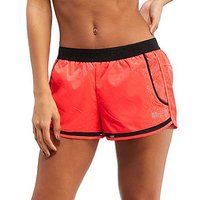 Superdry Mesh Inset Shorts - Coral/Black - Womens