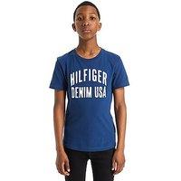 Tommy Hilfiger Large Logo T-Shirt Junior - Navy - Kids