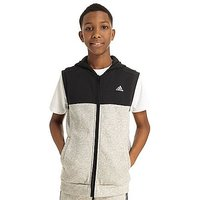 adidas Linear Sleeveless Hoody Junior - Grey/Black - Kids