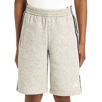 adidas Linear Fleece Shorts Junior - Grey/Black/White - Kids