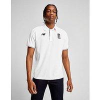 New Balance ECB Polo Shirt - White - Mens