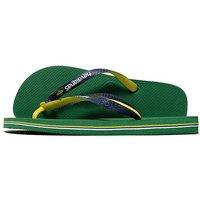 Havaianas Brazil Mix Flip Flops - Green/Yellow - Mens
