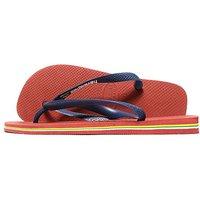 Havaianas Brazil Logo Flip Flops - Red/Navy - Mens
