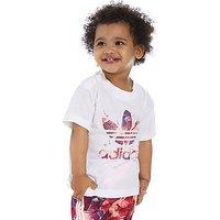adidas Originals Girls Farm T-Shirt Infant - White/Pink - Kids