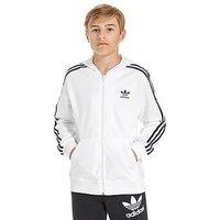 adidas Originals Full Zip Hoody Junior - White/Navy - Kids