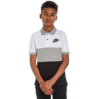 Nike Colour Block Polo Shirt Junior - White/Grey - Kids