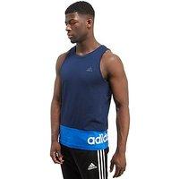 adidas Linear Vest - White/Grey Heather - Mens