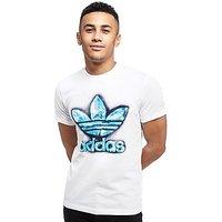 adidas Originals Flame T-Shirt - White/Blue - Mens