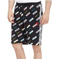adidas Originals Allover Print Linear Shorts - Black - Mens