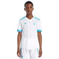adidas Olympique Marseille 2017/18 Home Shirt Junior - White/Blue - Kids