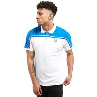 Sergio Tacchini Young Line Jersey Polo Shirt - White/Blue - Mens