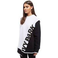 IVY PARK Asymetric Sweatshirt - Black/White - Womens