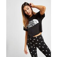 The North Face Mesh Crop T-Shirt - Black/White - Womens