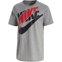 Nike Split Futura T-Shirt Junior - Dark Grey Heather/Red - Kids