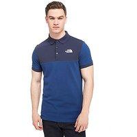 The North Face Colour Block Polo Shirt - Blue - Mens
