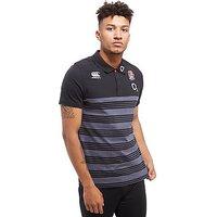 Canterbury England RFU Stripe Polo Shirt PRE ORDER - Black - Mens
