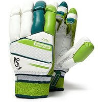 Kookaburra Kahuna 500 Batting Gloves Junior - White/Green - Kids