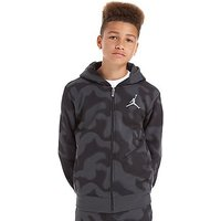 Jordan Flight Camo Full-Zip Hoody Junior - Black/Grey - Kids
