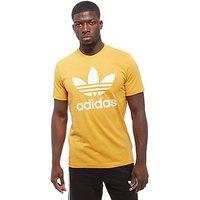 adidas Originals Trefoil T-Shirt - Yellow/White - Mens