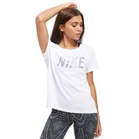 Nike Miller Running T-Shirt - White - Womens