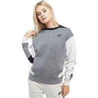 Nike Poly Colour Block Crew Sweater - Grey/Light bone - Womens