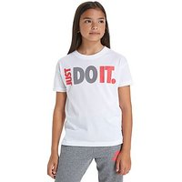 Nike Just Do It Cropped T-Shirt Junior - White - Kids