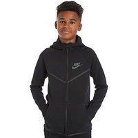 Nike Tech Windrunner Hoody Junior - Black/Grey - Kids