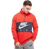 Nike Air Half-Zip Sweatshirt - Red/Blue - Mens