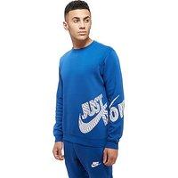 Nike Just Do It Logo Crew Sweatshirt - Blue - Mens