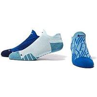 Nike Dry Cushion GFX Training Socks - Cobalt Blue and White - Womens