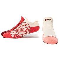 Nike Dry Cushion GFX Training Socks - White Red and Pink - Womens