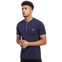 Fred Perry Bomber Neck Polo - Blue - Mens