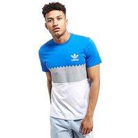 adidas Originals Serrated T-Shirt - Blue/White - Mens