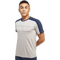 adidas Linear T-Shirt - Mid Grey Heather/Navy - Mens