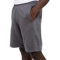 adidas Linear Fleece Shorts - Grey - Mens