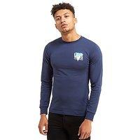 Vans Retro Triangle Long-Sleeved T-shirt - Dark Blue - Mens