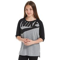 Nike Girls Lounge T-Shirt Junior - Dark Grey/Black - Kids