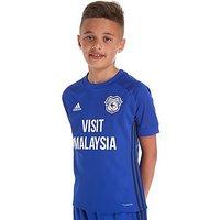 adidas Cardiff City 2017/18 Home Shirt Junior - Blue - Kids