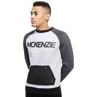 McKenzie Prometheus Crew Sweatshirt - Grey Marl/Blue Marl - Mens