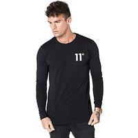 11 Degrees Core Small Logo Longsleeve T-Shirt - Black - Mens