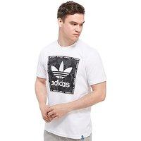 adidas Originals Trefoil Camo Box T-Shirt - White/Black - Mens
