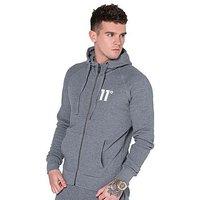 11 Degrees Zip Through Fleece Hoody - Charcoal - Mens