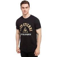 Le Coq Sportif AS Saint Etienne Crest T-Shirt - Black - Mens