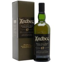 70cl / 40% / Distillery Bottling - A tad less peaty than early bottlings, the classic Ardbeg 17yo is still a great whisky, but is sadly becoming very thin on the ground as demand increases and supply runs low - it's now a good few years since owners Glenmorangie discontinued it.  The first bottling of this sparked the revival of Ardbeg's fortunes after the takeover by Glenmorangie.