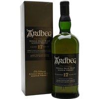 100cl / 43% / Distillery Bottling - A litre bottle of Ardbeg 17 Year Old. A tad less peaty than early bottlings, this is still a great whisky, but is sadly becoming very thin on the ground as demand increases and supply runs low - it's now a good few years since owners Glenmorangie discontinued it.  The first bottling of this sparked the revival of Ardbeg's fortunes after the takeover by Glenmorangie.