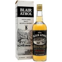 75cl / 40% / Distillery Bottling - A 1970s bottling of 8 year old Blair Athol single malt, the spiritual home of Bell's and a key component of that blend.