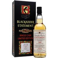 70cl / 44.7% / Blackadder - This is a 26-year-old Bunnahabhain from Blackadder. Distilled in 1989, it was aged in a single cask for 26 years before 234 bottles were yielded for the Statement series.